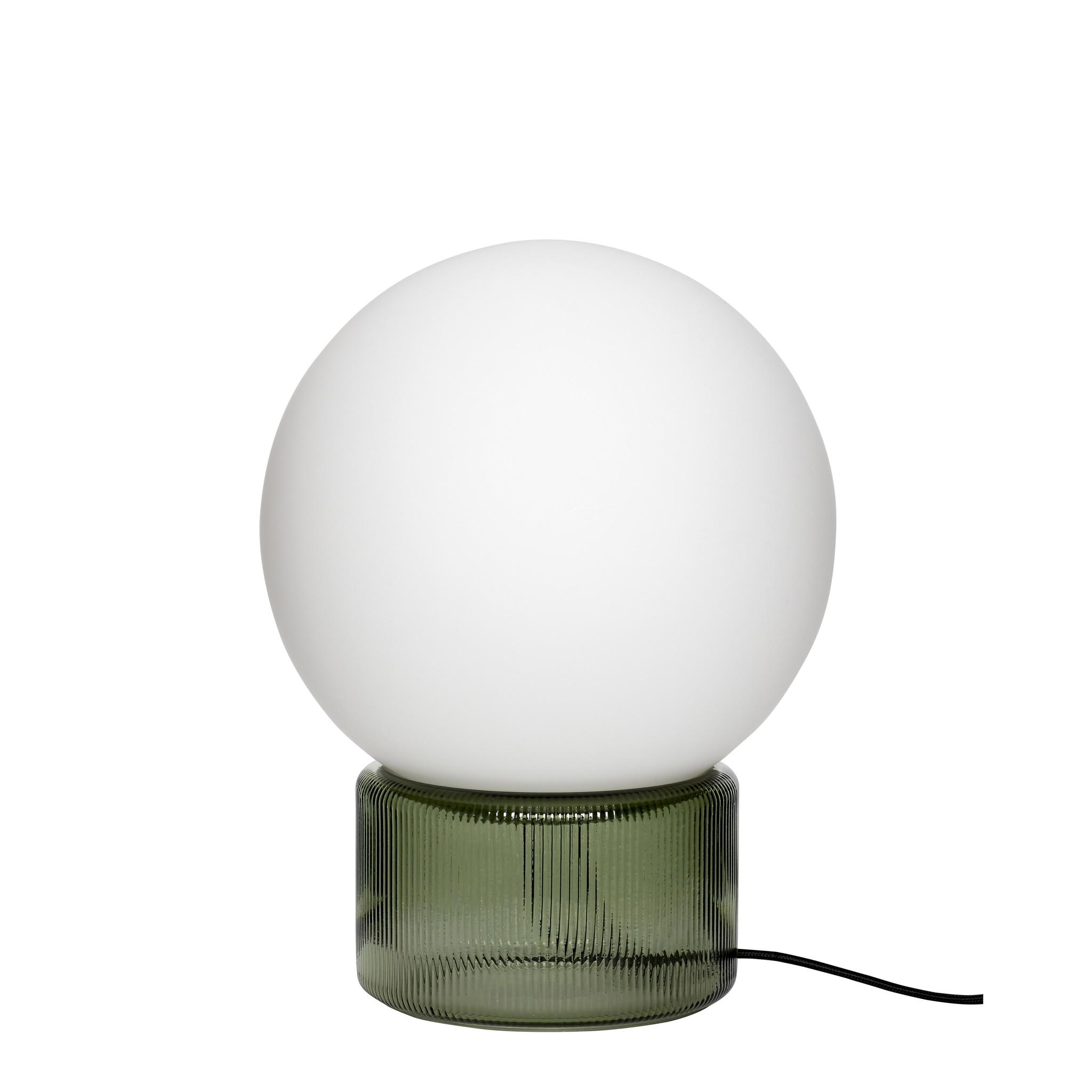 Hubsch Tafellamp glas, groen-991201-5712772102077