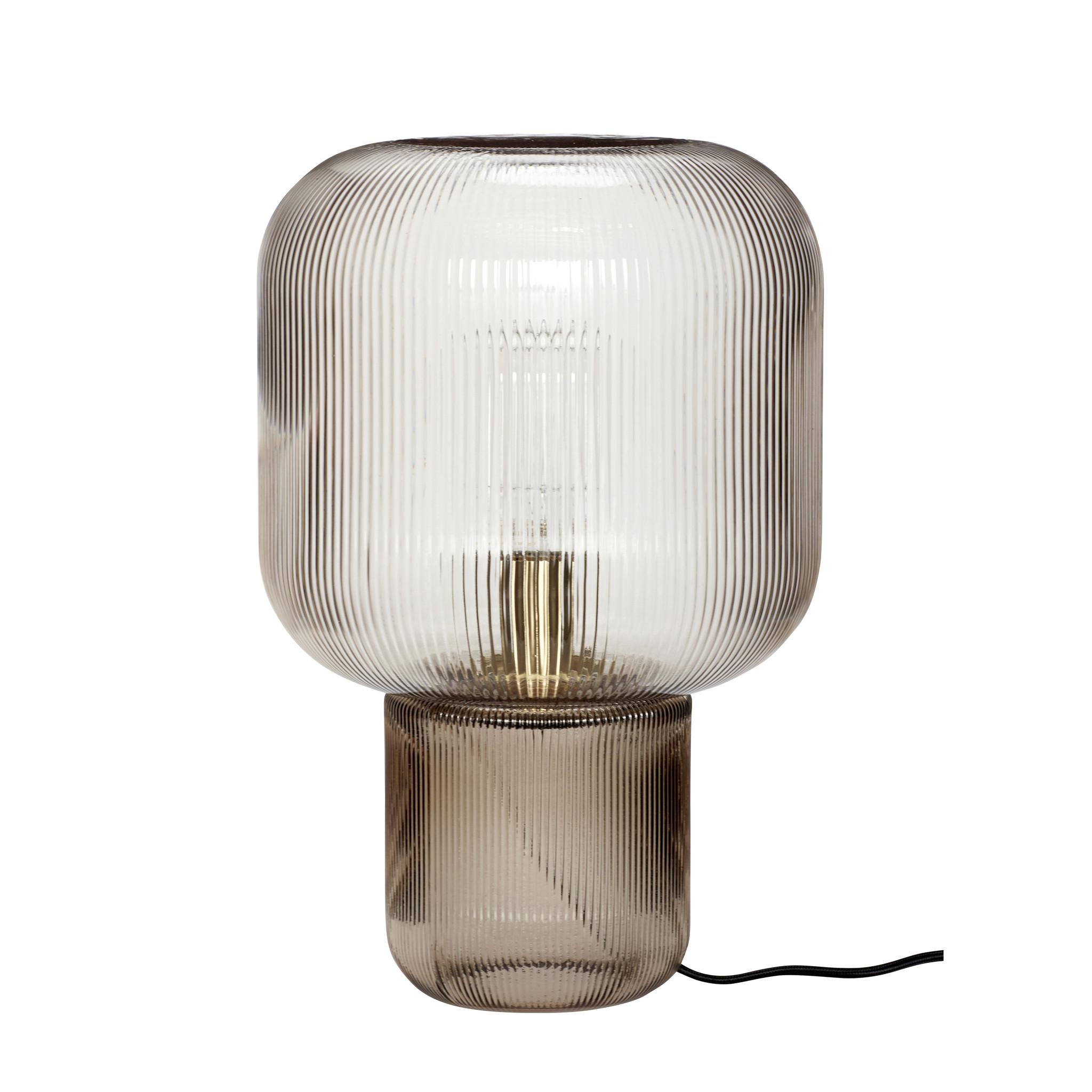 Hubsch Tafellamp glas, gerookt