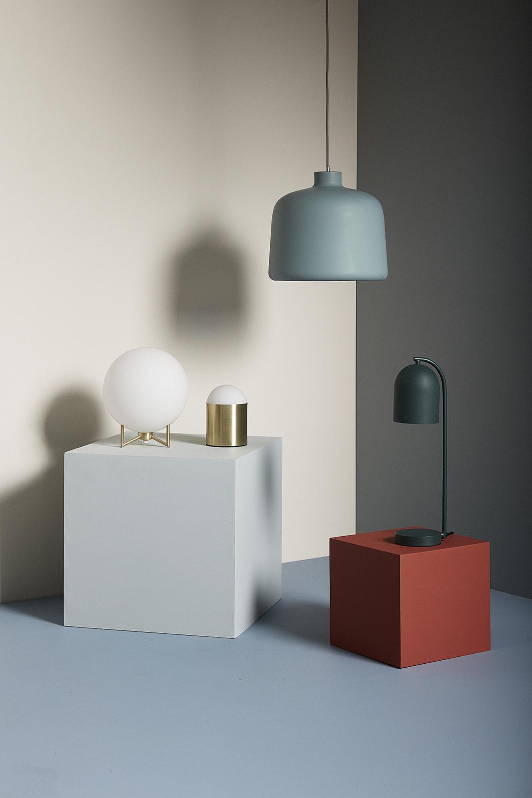 Hubsch Tafellamp glas/goud
