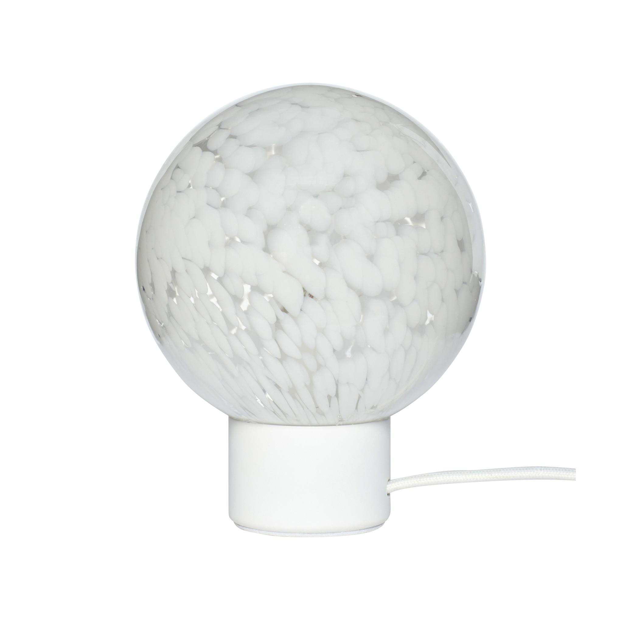 Hubsch Tafellamp glas, metaal, wit-991301-5712772111376