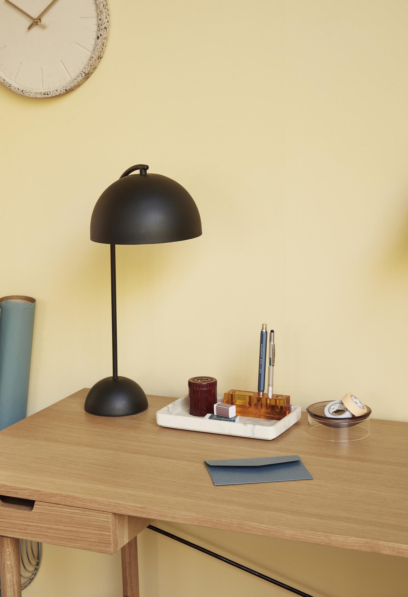 Hubsch Tafellamp, metaal, zwart