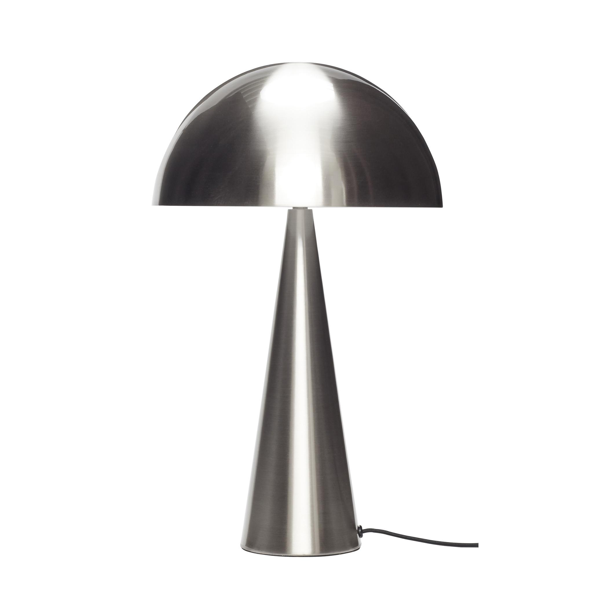 Hubsch Tafellamp metaal/nikkel groot