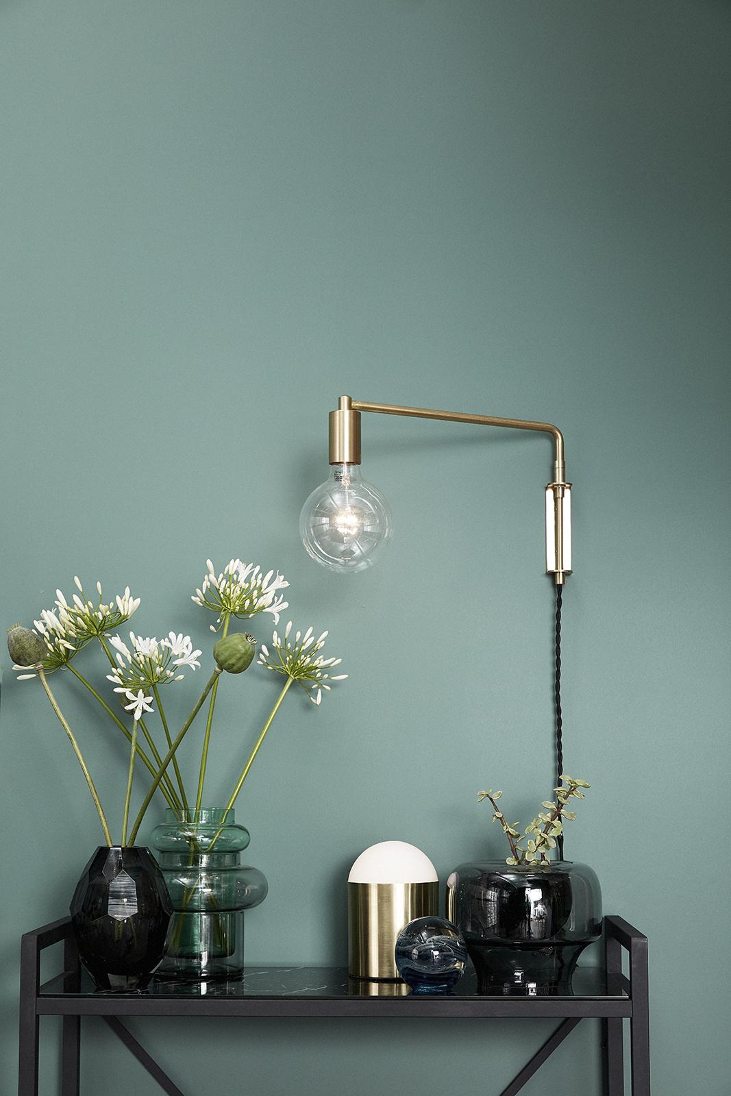 Hubsch Wandlamp met lamp, LED, goud-890501-5712772059593