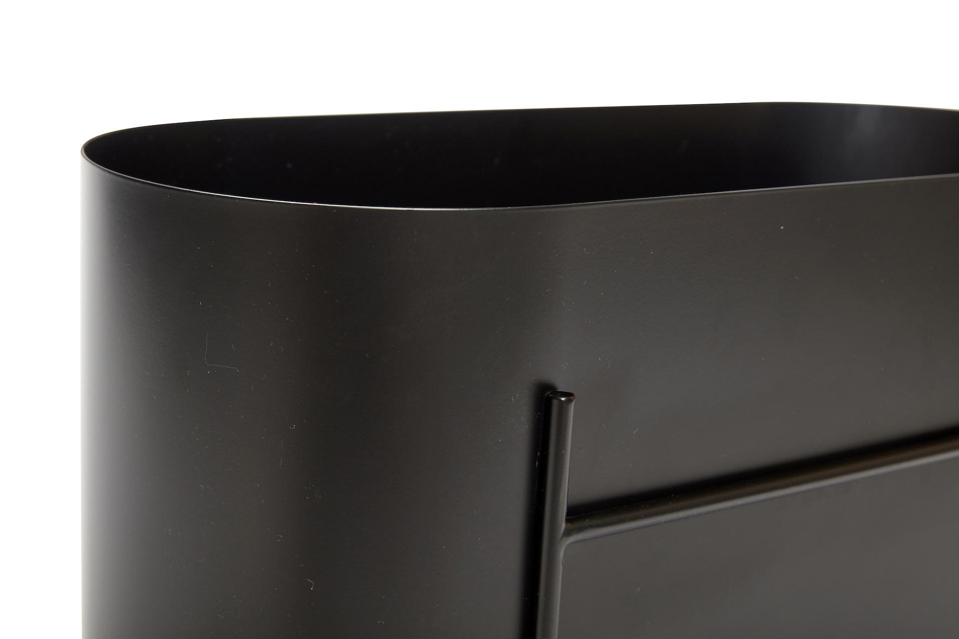 Hubsch Plantenbak metaal, zwart-021319-