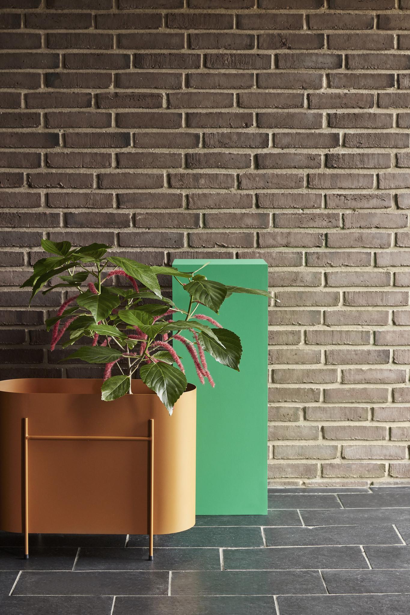 Hubsch Plantenbak metaal, oranje-021220-5712772103937