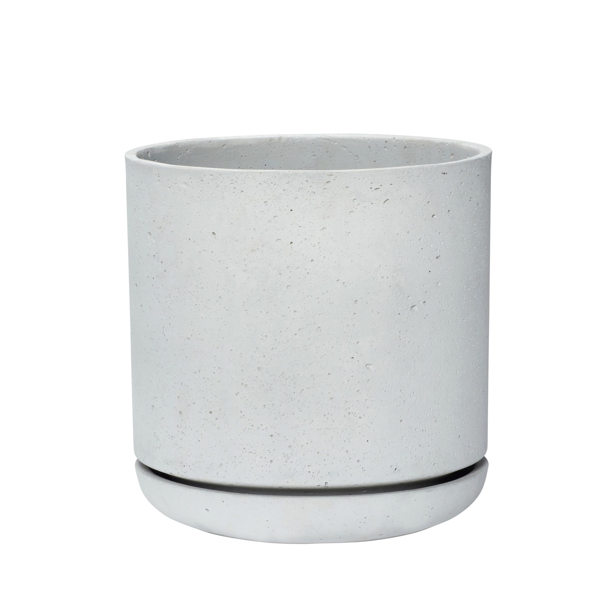 Hubsch Bloempot Fiberstone, grijs (set van 2)