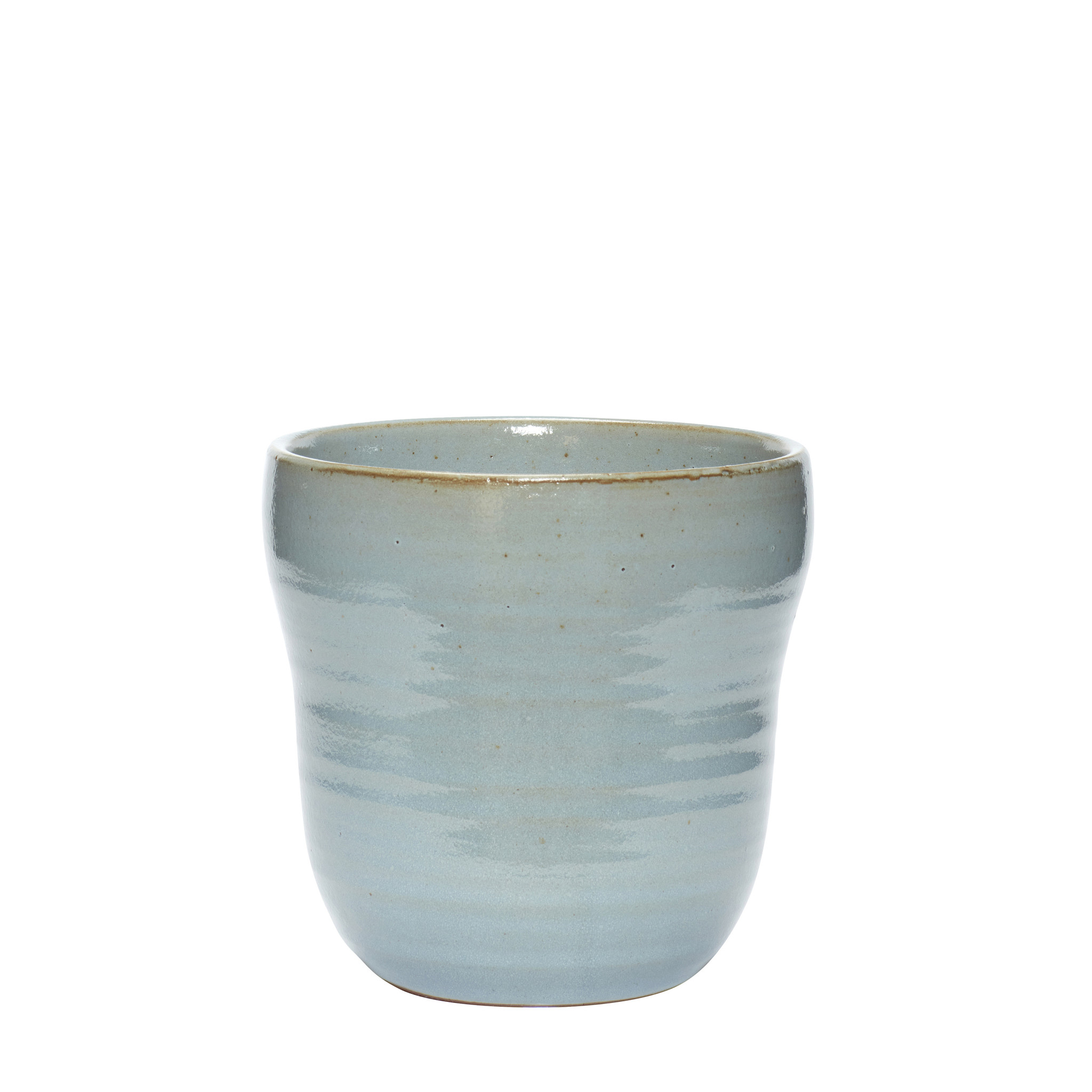Hubsch Bloempot, keramiek, blauw, set van 2