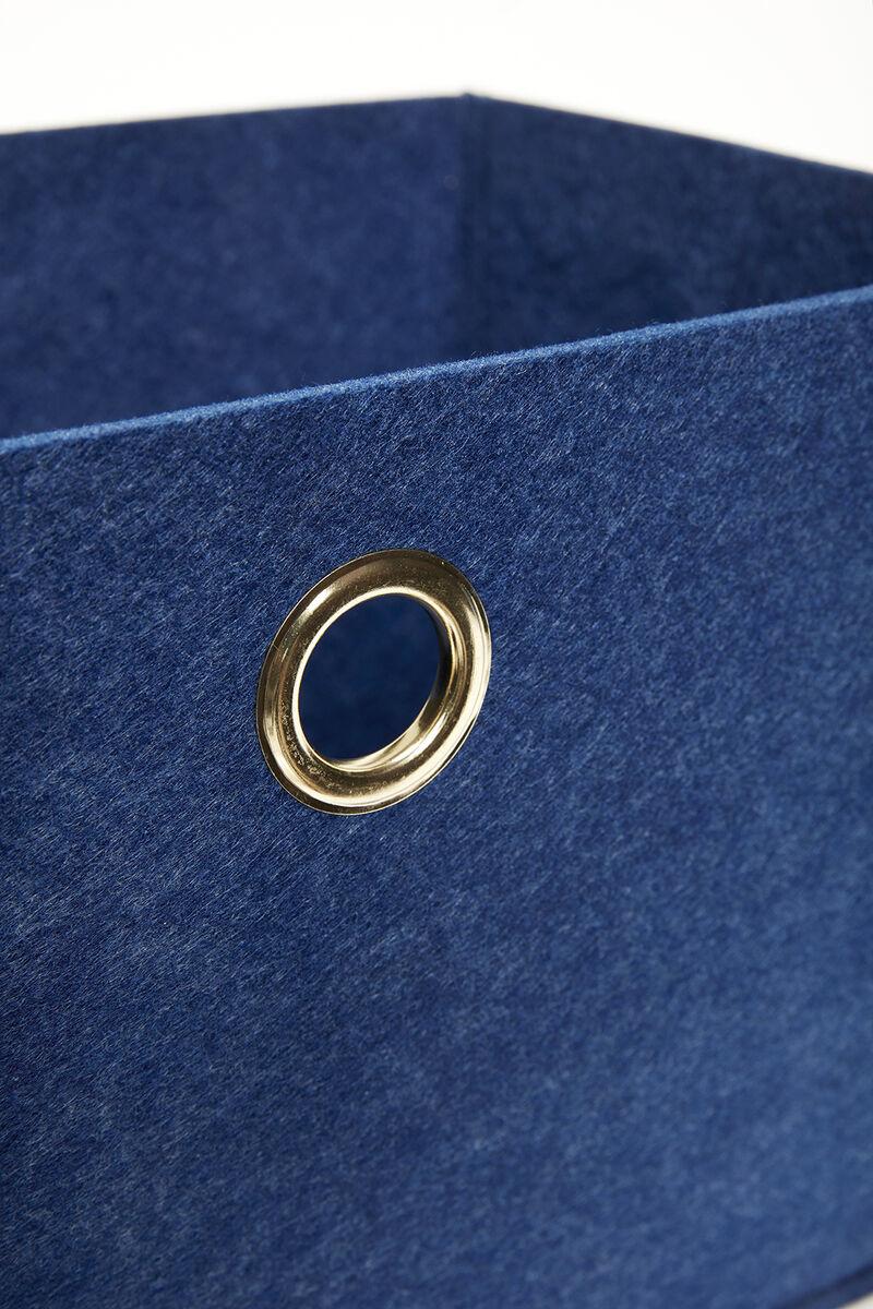 Hubsch Viltmand, blauw, vierkant, set van 2-680601-5712772068816