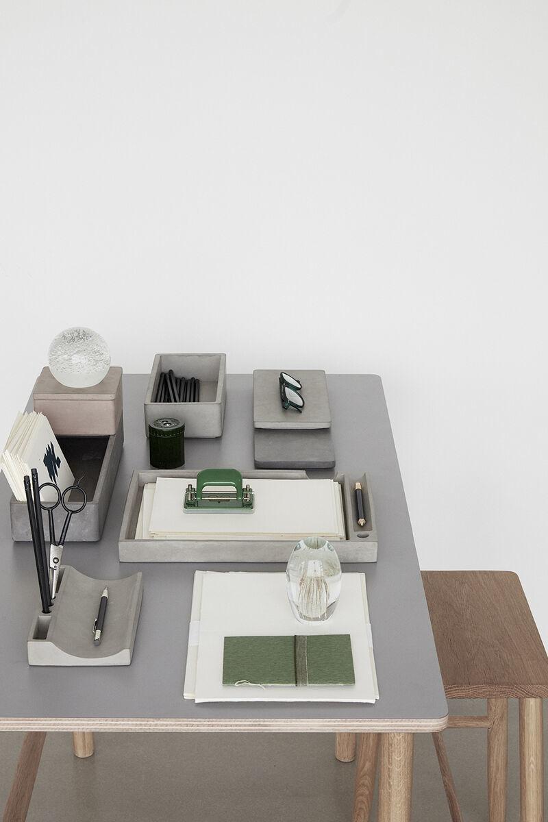 Hubsch Bureau-organizer, beton-530605-5712772063590