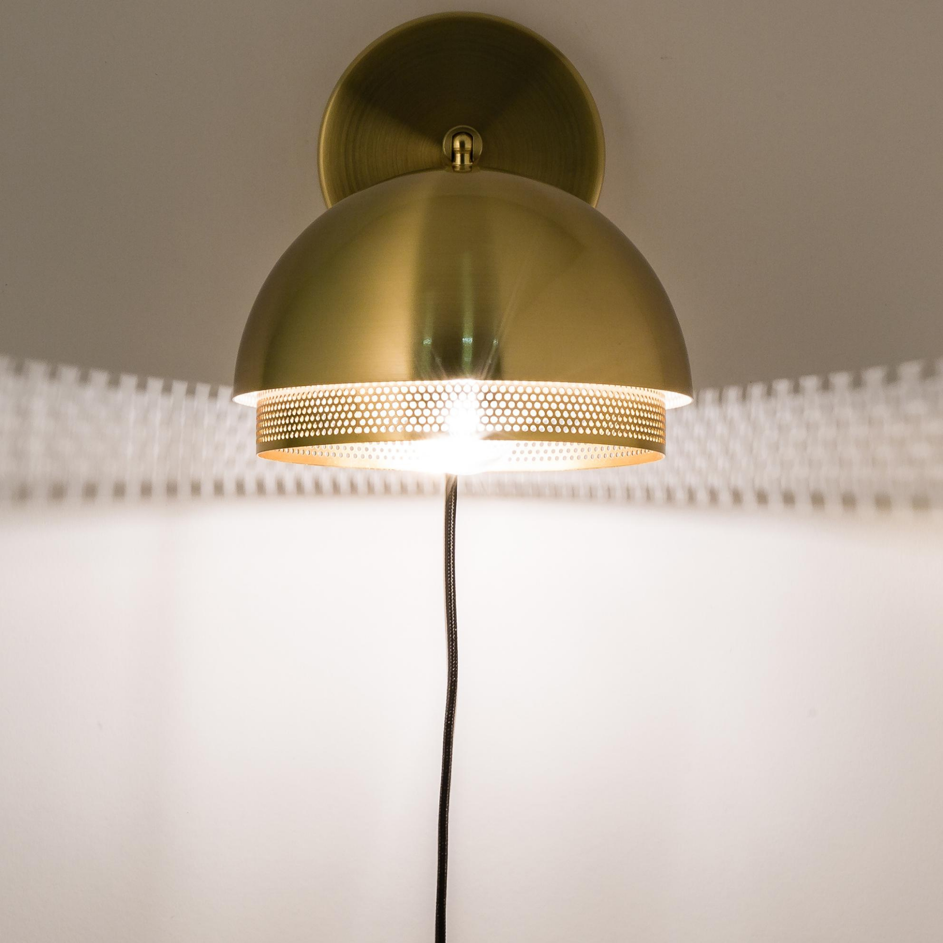 Hubsch Tweedekans wandlamp - goud metaal - 990708 - ø21 x 28 cm
