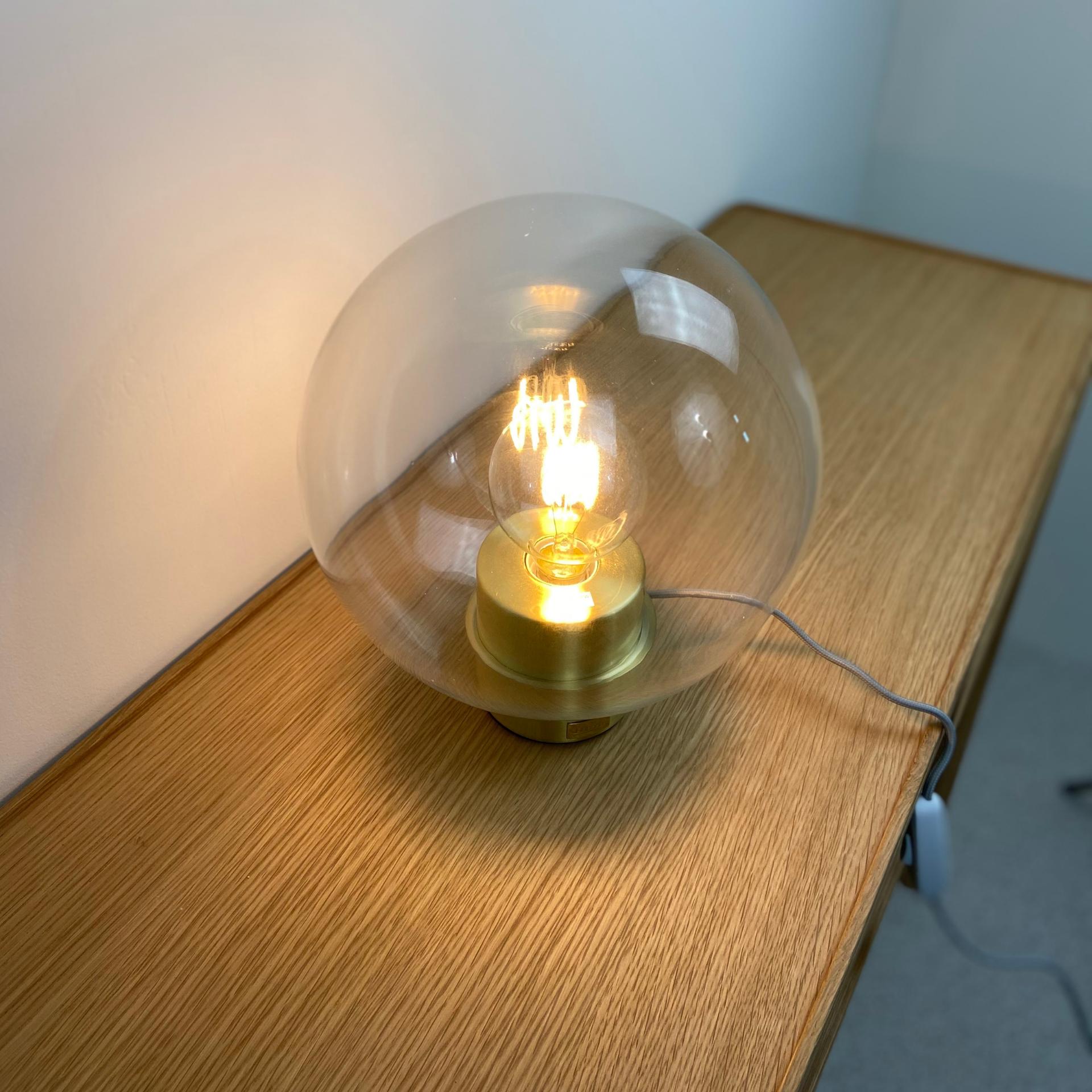 Hubsch Tafellamp bol glas - 890409 - ø24 x h30 cm-890409-5712772059616