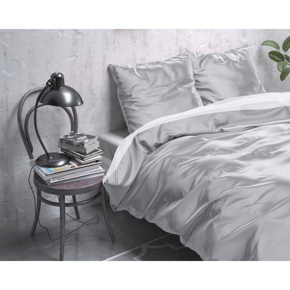 Dreamhouse Dekbedovertrek Beauty Double Face Grey/White- 240x220cm-15024079-8720105640797