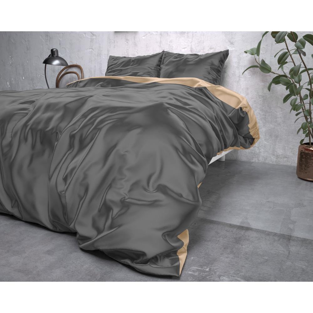 Dreamhouse Dekbedovertrek Double Taupe/Antraciet - 240x220cm-15024076-9720105640766