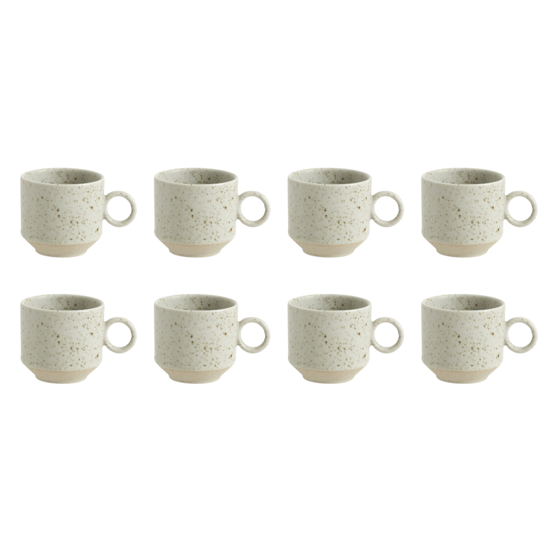 Nordal Grainy espressokopje - zandkleur - set van 8-57022-5708309161518