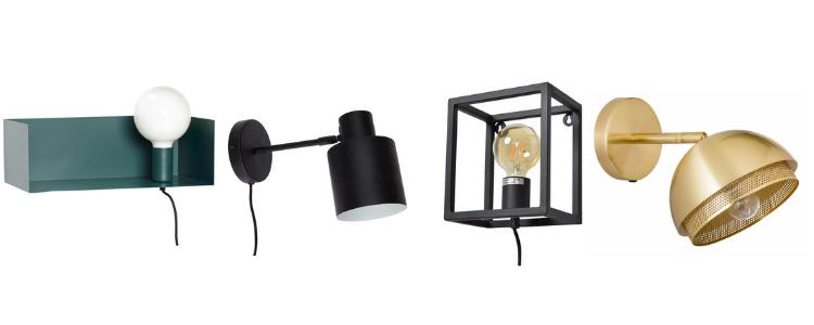 Industriele wandlamp met snoer