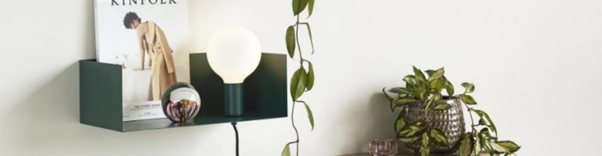 Industriële wandlamp met snoer van Winkel voor Thuis