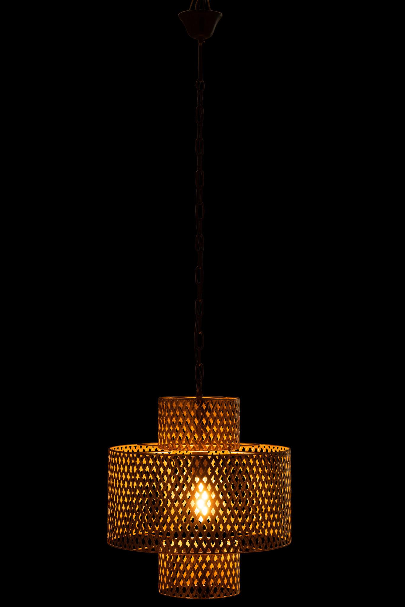 J-line Hanglamp Breed Antiek Zink Goud (7814) - ø47 cm-7814-5400924078140