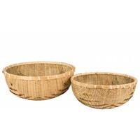 mand 'Natan' bamboe rond
