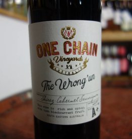 Australian Wine The Wrong Un Shiraz Cabernet Sauvignon, One Chain Vineyards