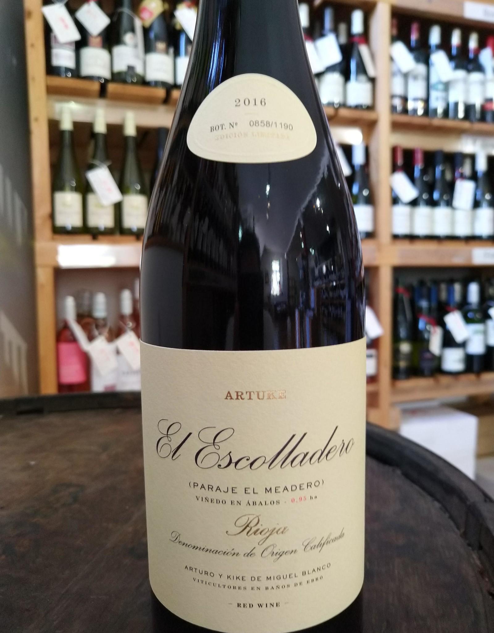 Bodegas Artuke, Rioja, Spain El Escolladero 2016, Artuke