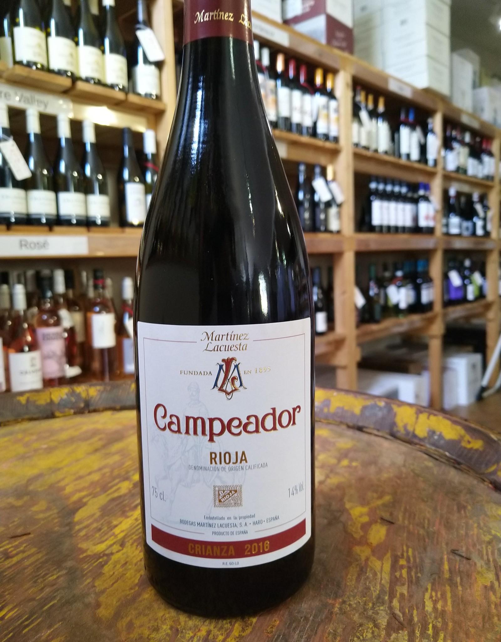 Martinez Lacuesta Rioja 2016 Campeador Crianza Rioja, Martinez Lacuesta