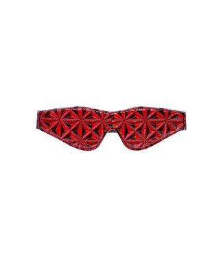 Crimson Tied Blinddoek Diamant Patroon - Zwart/Rood