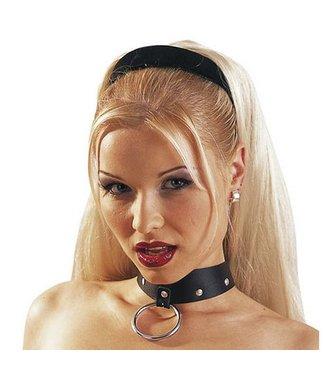Zado Leren halsband met ring