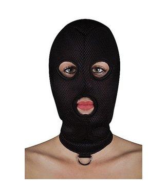 Ouch BDSM Masker van Netstof met D-ring