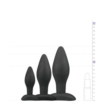 Easytoys Anal Collection Siliconen buttplugsetje - zwart