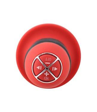 Menzstuff Vibrator dildo met handvat - Zwart/Rood