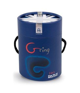 G-Vibe Gring Vingervibrator En Afstandsbediening - Donkerblauw