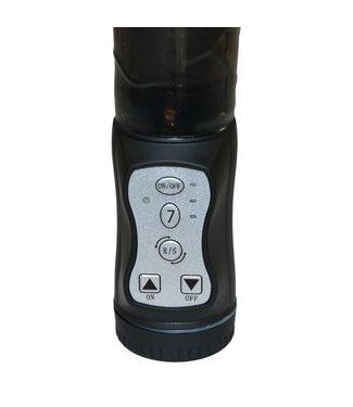 Seven Creations Vibrator met Parels en vibrerende anaalstimulator - Zwart
