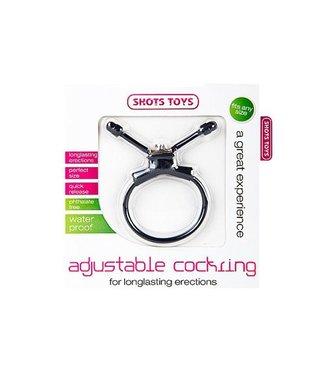 Shots Toys Adjustable Cockring Black