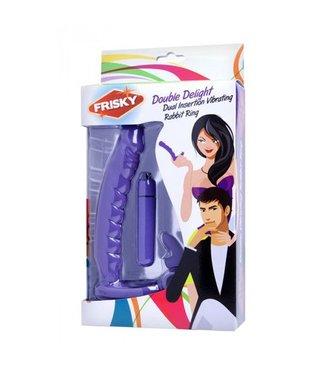 Frisky Double Delight Vibrerende Penisring Met Vibrator