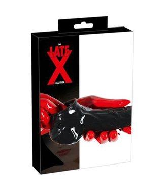 The Latex Collection Latex Penis- En Balsleeve Met Open Top