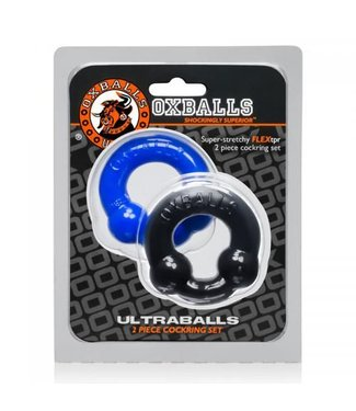 Oxballs Ultraballs Cockringenset - Zwart & Blauw