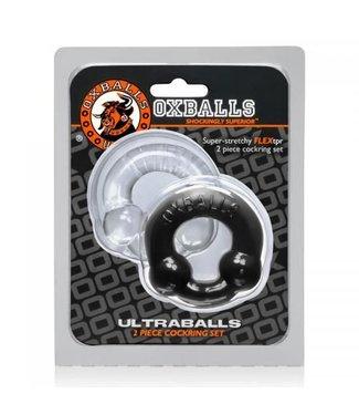 Oxballs Ultraballs Cockringenset - Zwart & Transparant