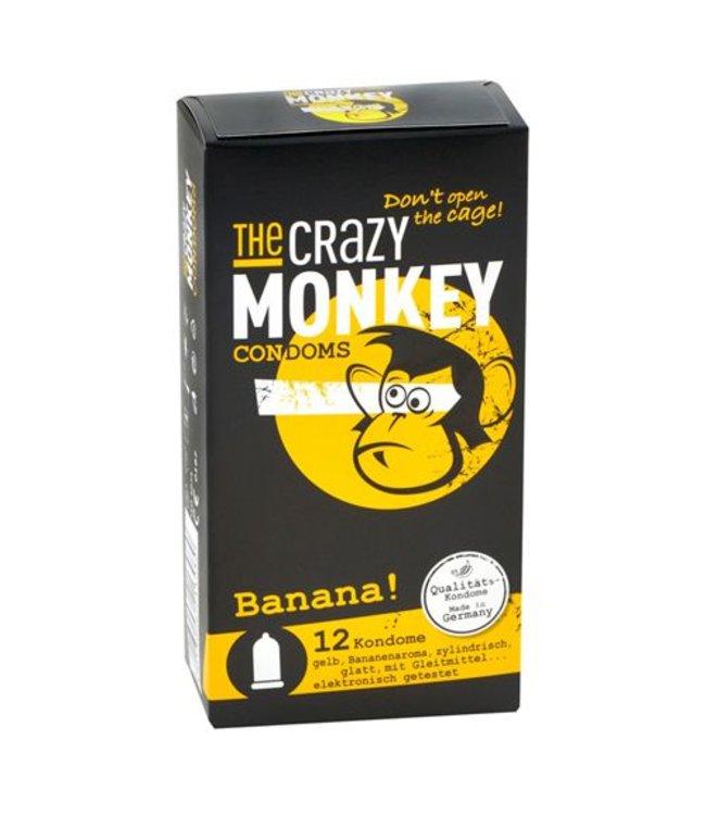 The Crazy Monkey Banana! Condooms - 12 stuks