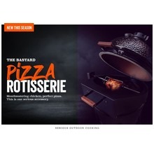 The Bastard Pizza rotisserie
