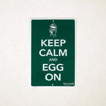 Big Green Egg Keep calm and Egg on bord