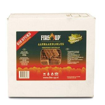 FireUp Aanmaak blokjes bruin circa 616 stuks / voordeelverpakking