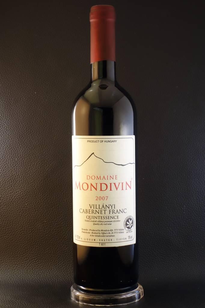 Domaine Mondivin  6 flessen Quintessence 2007 Cabernet Franc Villany Premium DHC