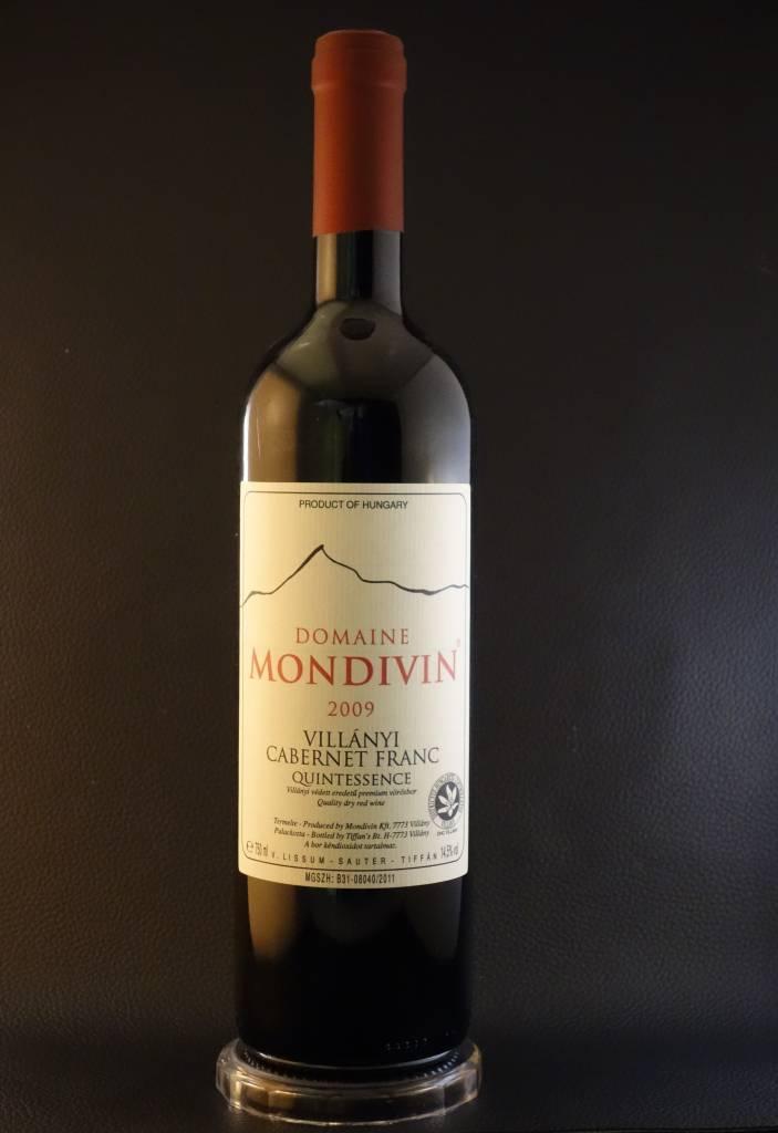 Domaine Mondivin  6 flessen 2009 Quintessence Cabernet Franc Villany Premium DHC