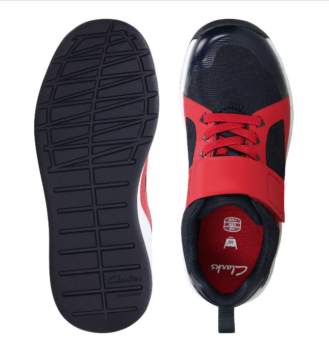 Clarks Orbit Race Red Youth