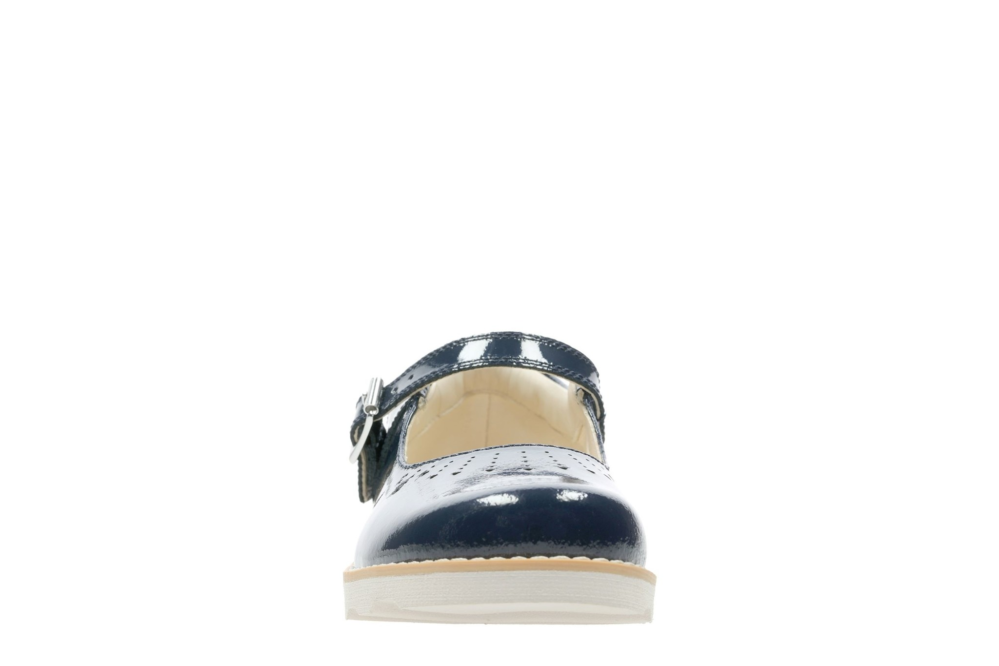 Clarks Crown Jump Navy Patent Infant