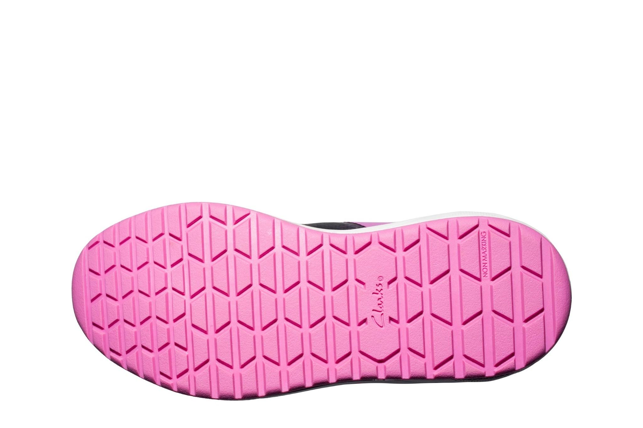 Clarks Aeon Pace Junior Pink