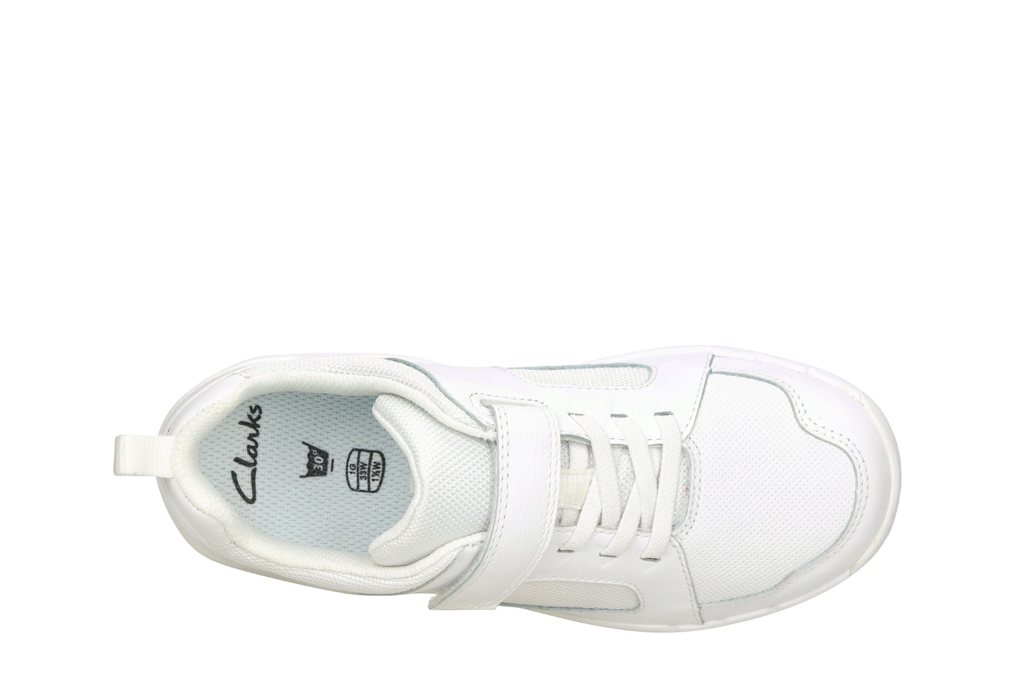 Clarks Orbit Ride White Junior