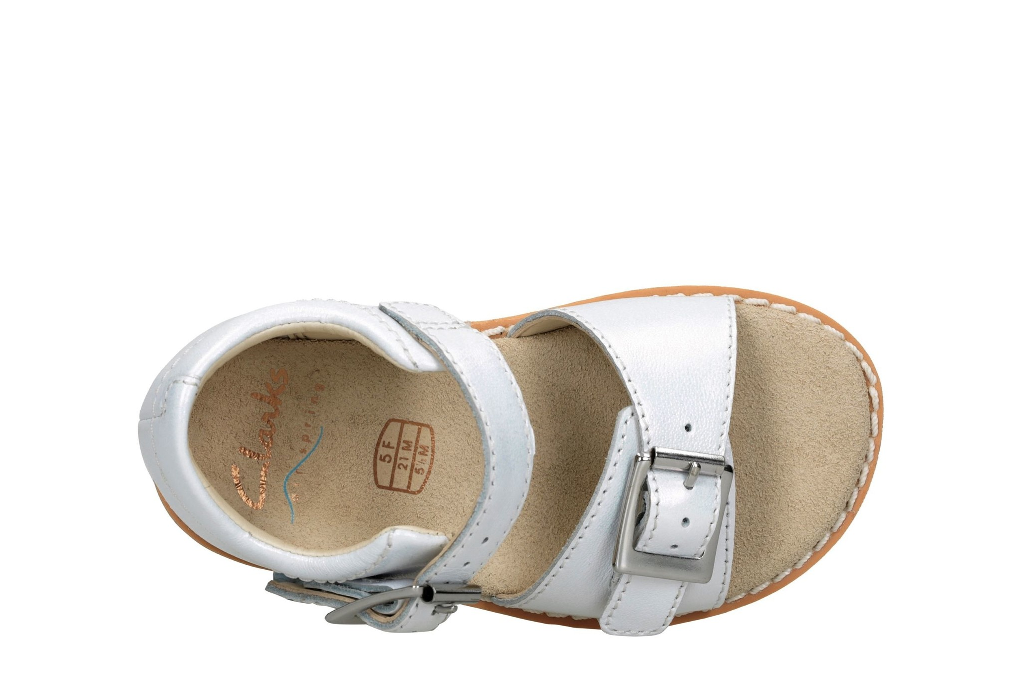 Clarks Crown Bloom White Infant