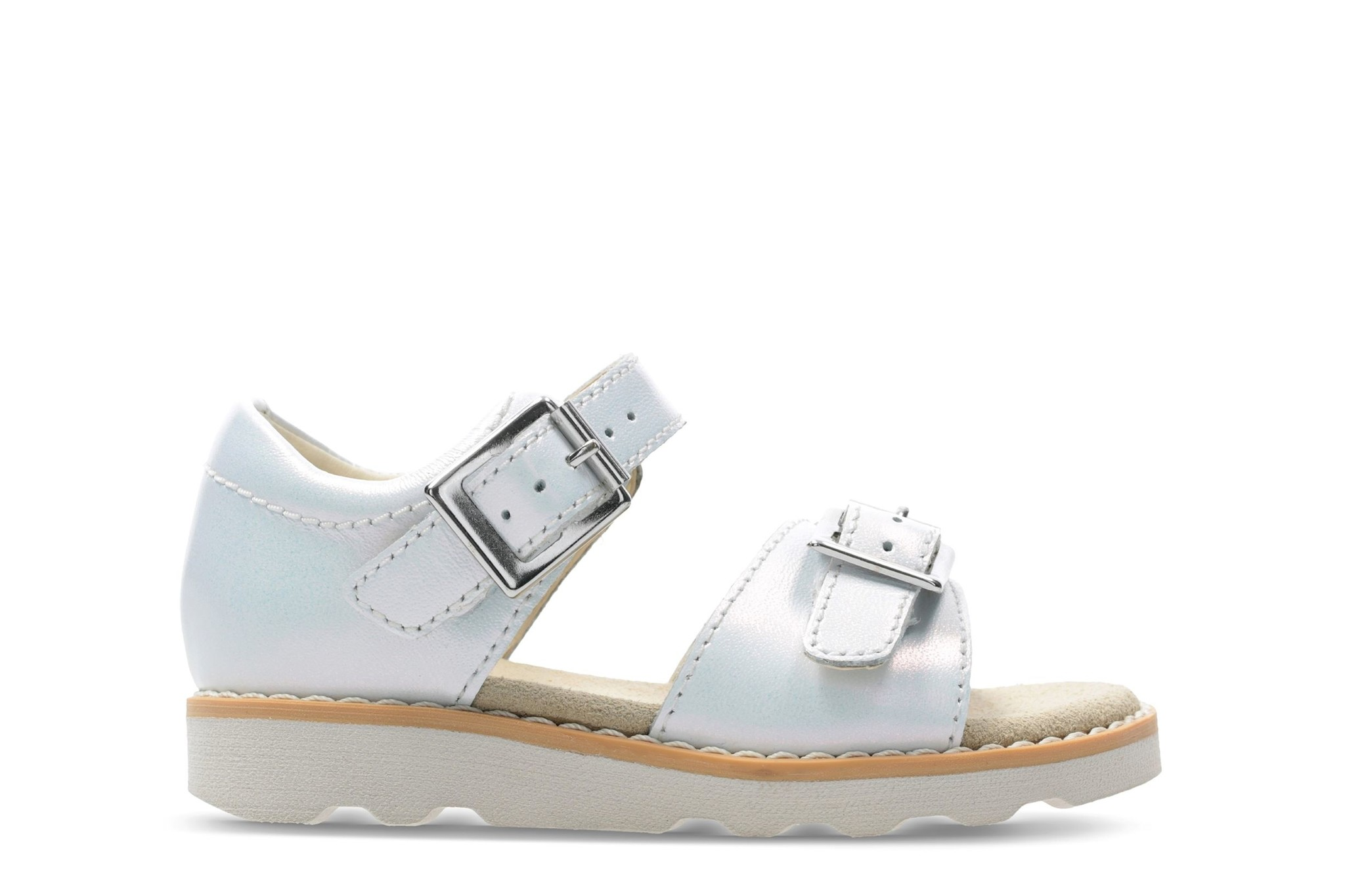 Clarks Crown Bloom White Youth