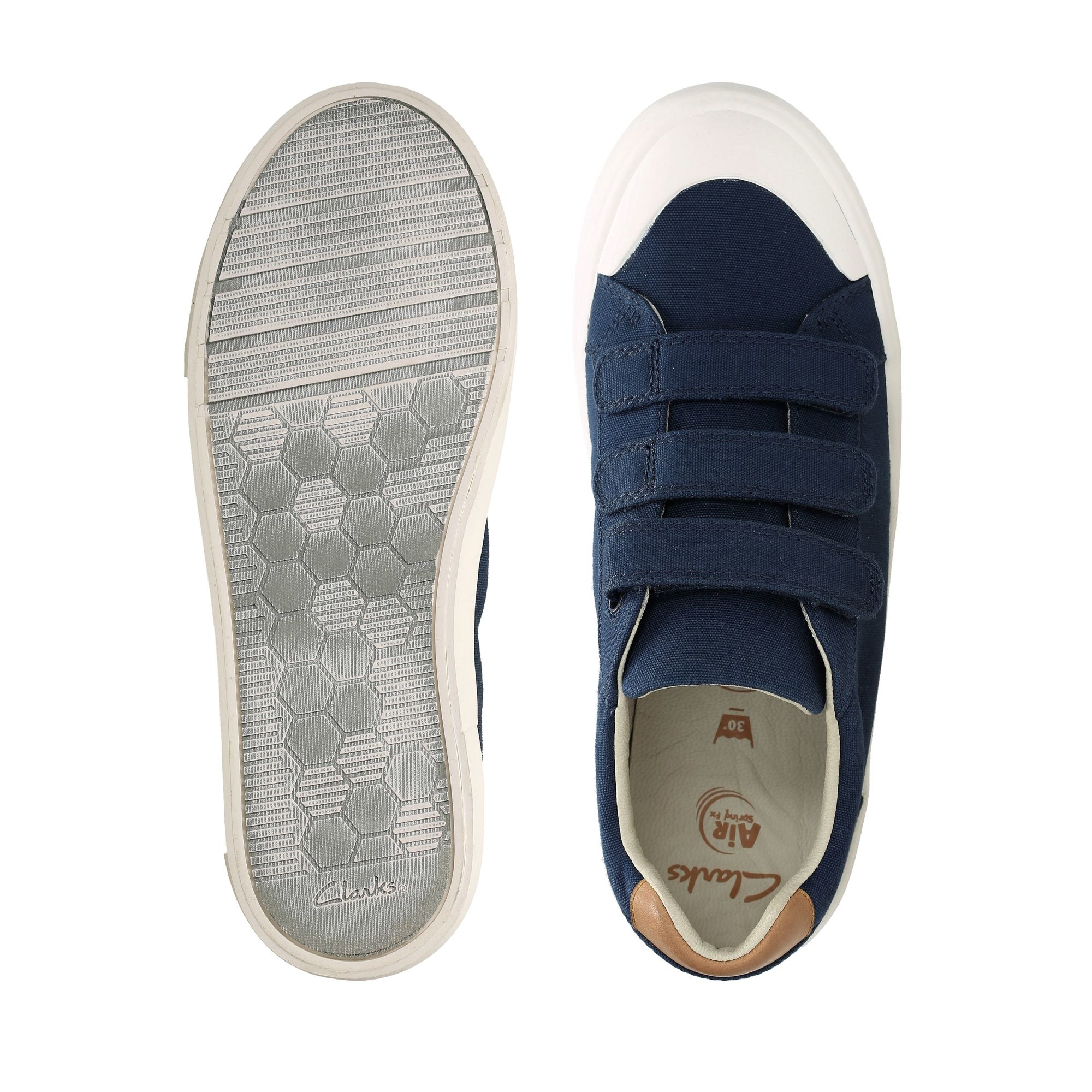Clarks Comic Trick Navy Canvas